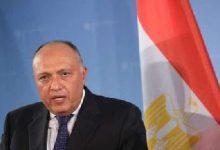 """شكري يصل طرابلس للمشاركة في مؤتمر """"دعم استقرار ليبيا"""""""
