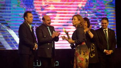 خلال حفل افتتاح مهرجان أسوان تكريم ماشا مريل وإلهام شاهين وساندرا نشأت