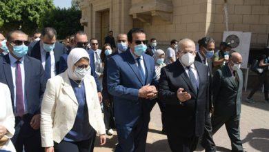 عبد الغفار وزايد والخشت يتفقدون تطعيم طلاب الجامعه ضد كورونا