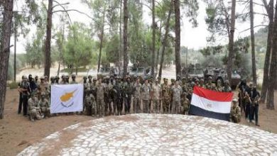 """ختام فعاليات التدريب المشترك المصري القبرصي """"بطليموس 2021"""""""