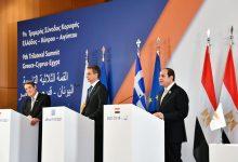 كلمة السيسي عقب القمة الثلاثية بين مصر وقبرص واليونان